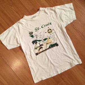 v t g | white st. croix souvenir t-shirt